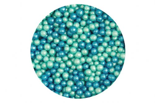 Sugar 4mm Pearls: Glimmer Turquoise & Blue